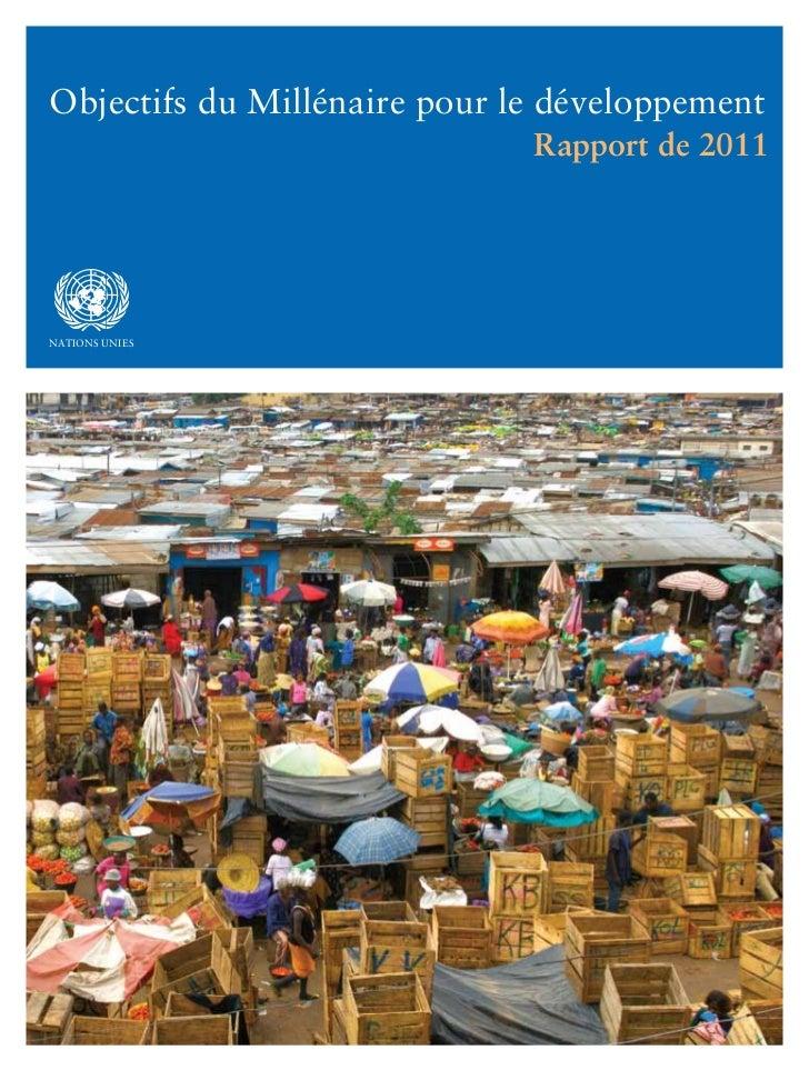 Objectifs Millénaires du Développement - Rapport 2011 - ONU