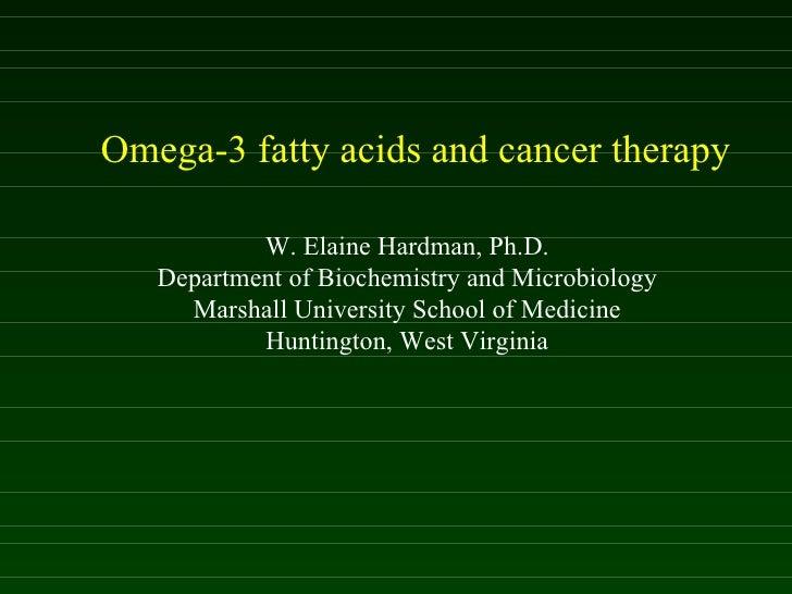 Il ruolo degli Omega nella terapia del cancro