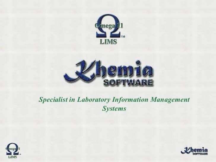 Specialist in Laboratory Information Management Systems