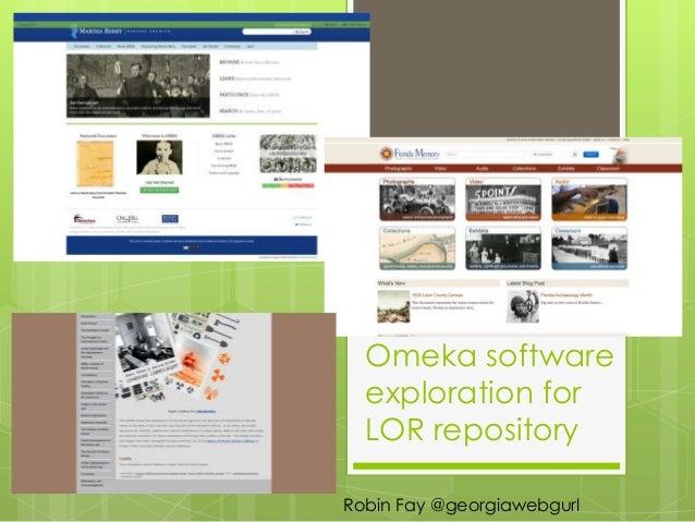 Exploring Omeka