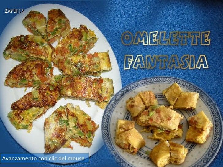 Omelette fantasia, con zucchina e carota