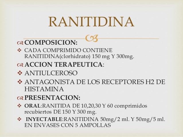 Ranitidina: para qué sirve, efectos secundarios y cómo ...