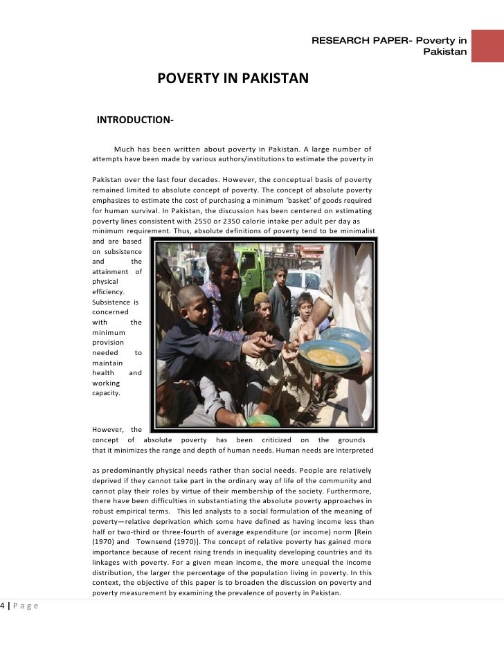Research paper on poverty