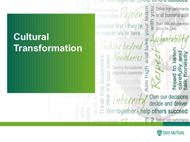 Old Mutual Team - Implementing Cultural Transformation in a Decentralised International Environment