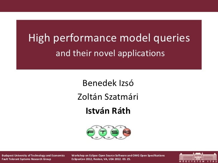 High performance model queries                                        and their novel applications                        ...