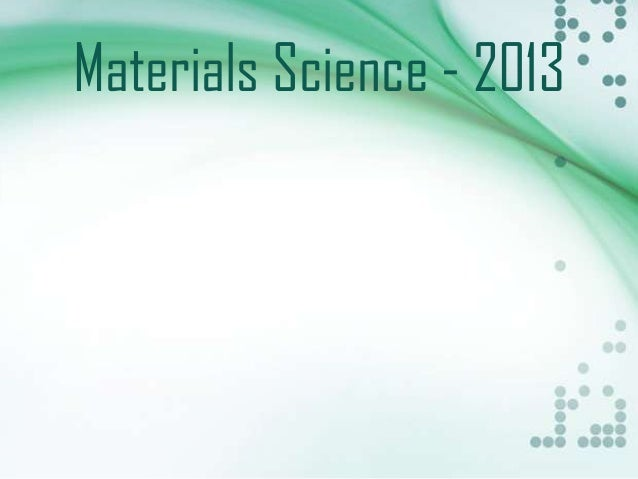 Conference on Materials Science