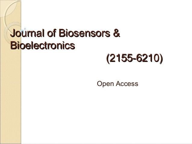 Journal of Biosensors & Bioelectronics