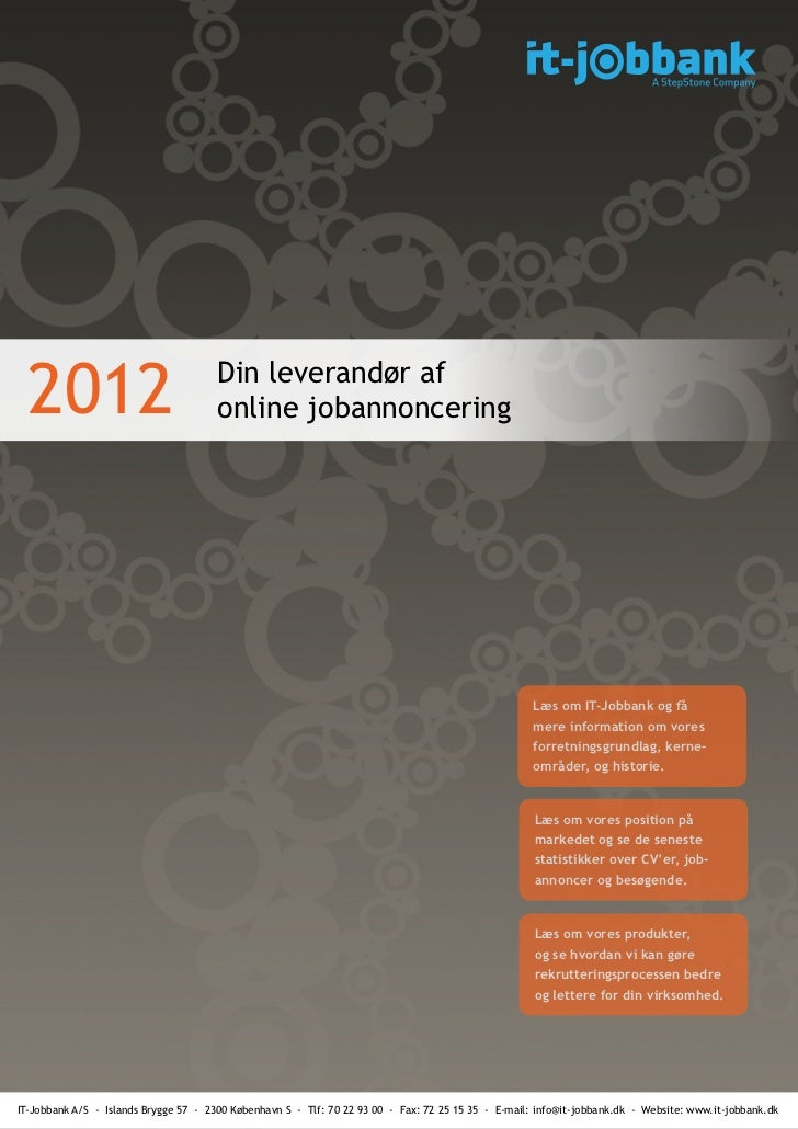 2012                                 Din leverandør af                                       online jobannoncering        ...