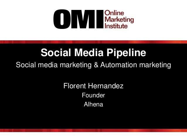 Social Media Pipeline Social media marketing & Automation marketing Florent Hernandez Founder Alhena