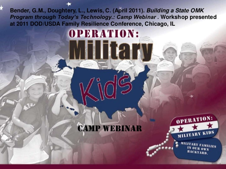 Bender, G.M., Doughtery, L., Lewis, C. (April 2011). Building a State OMK Program through Today's Technology.: Camp Webina...