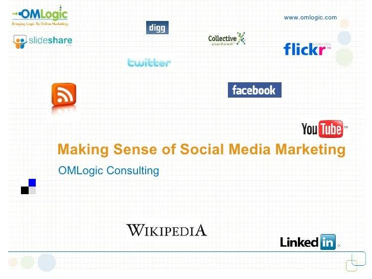 www.omlogic.com     Making Sense of Social Media Marketing  OMLogic Consulting