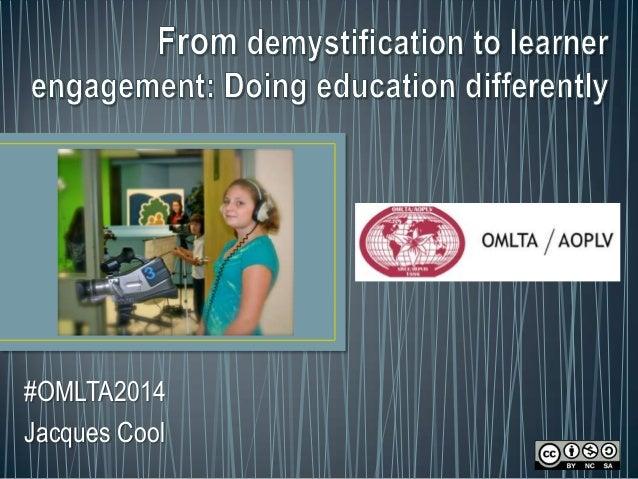 #OMLTA2014 Jacques Cool