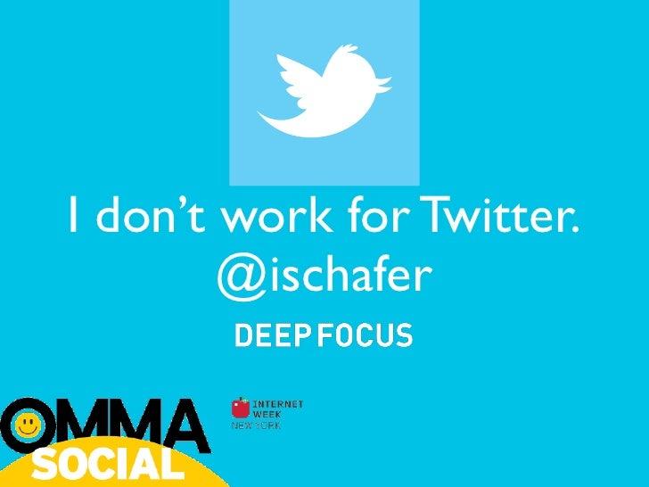 I don't work for Twitter.        @ischafer