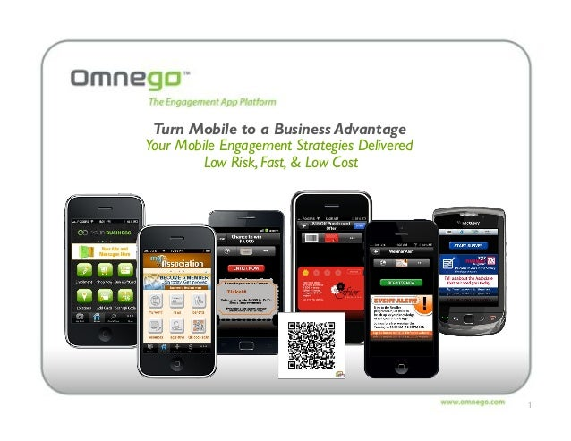 1 Turn Mobile to a Business Advantage Your Mobile Engagement Strategies Delivered Low Risk, Fast, & Low Cost