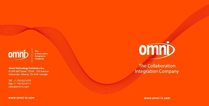 Contents 3    Omni—The Collaboration Integration Company      Since 1999, Omni has helped Novell customers increase the RO...