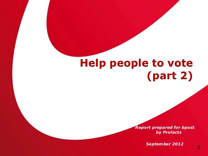 Helping people to vote