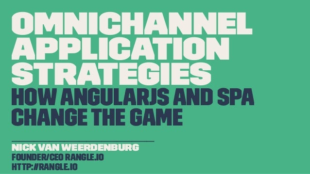 Omnichannel Applications with AngularJS