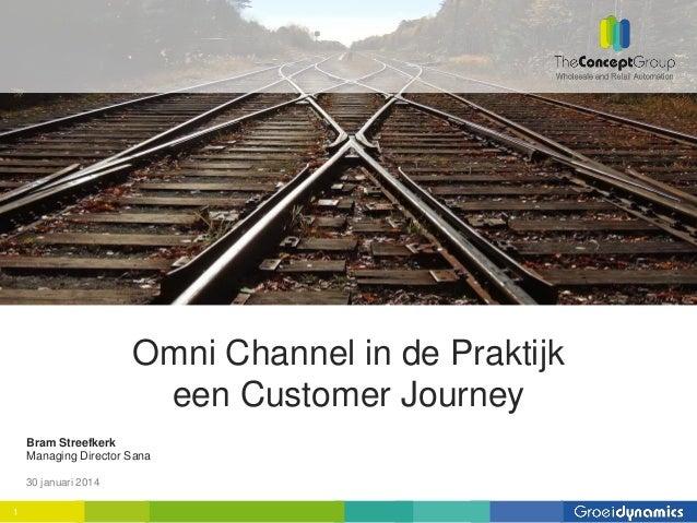 Omni Channel in de Praktijk een Customer Journey Bram Streefkerk Managing Director Sana 30 januari 2014 1