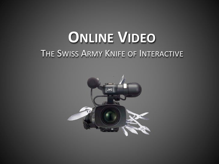 ONLINE VIDEOTHE SWISS ARMY KNIFE OF INTERACTIVE