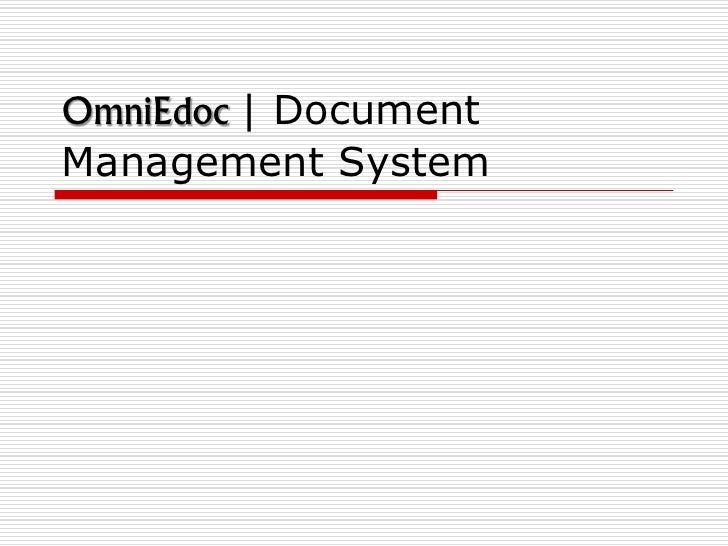 OmniEdoc | DocumentManagement System