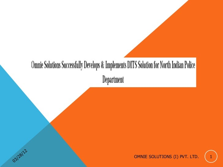 12         8/        OMNIE SOLUTIONS (I) PVT. LTD.   1    3 /20