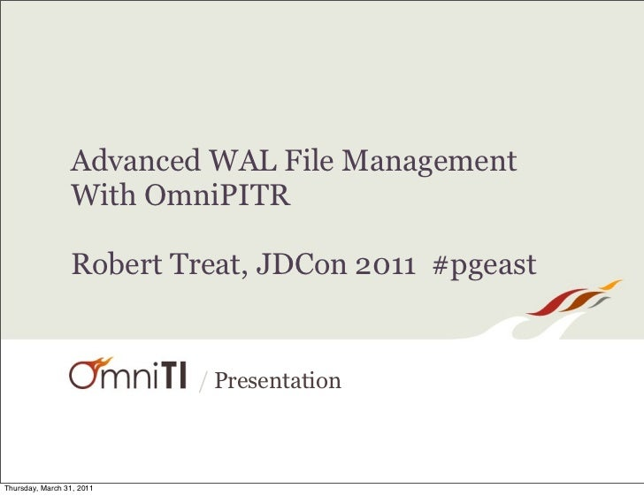Advanced WAL File Management With OmniPITR