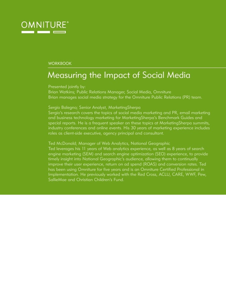 Omniture Workbook Measuring Social Media Impact