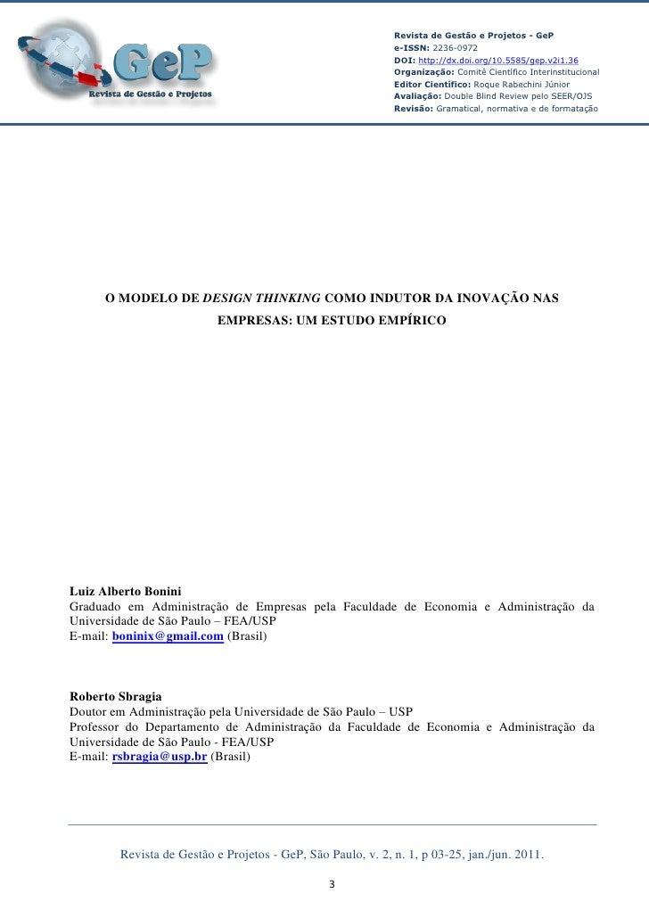 Revista de Gestão e Projetos - GeP                                                             e-ISSN: 2236-0972          ...