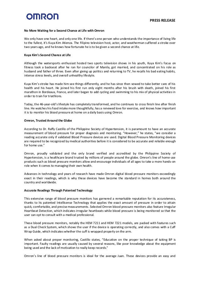 Omron press release