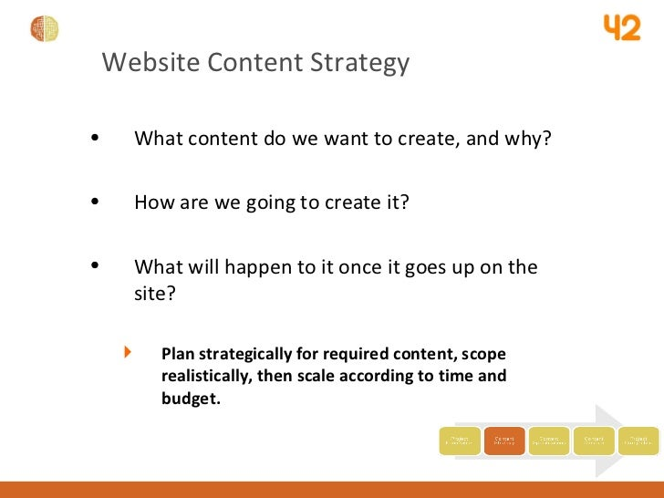 University website content strategy