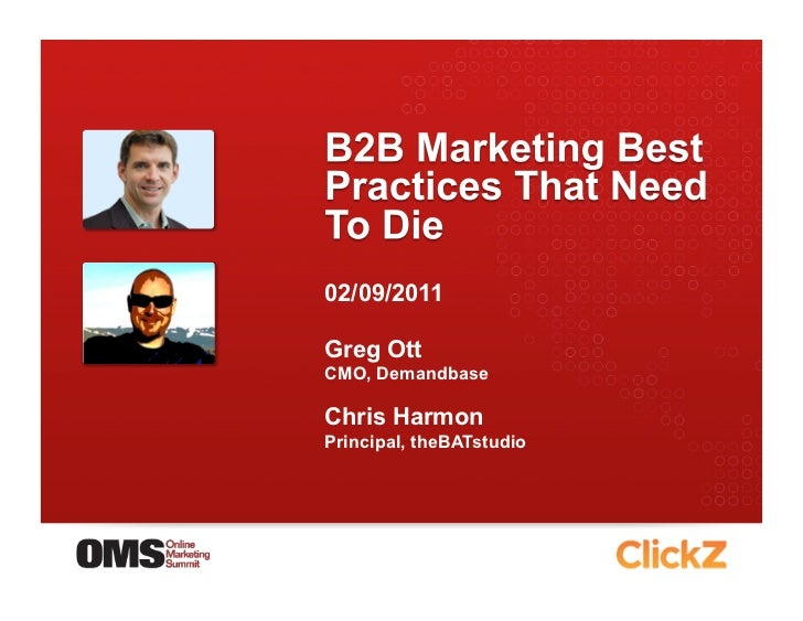 B2B Marketing Best Practices that Need to Die