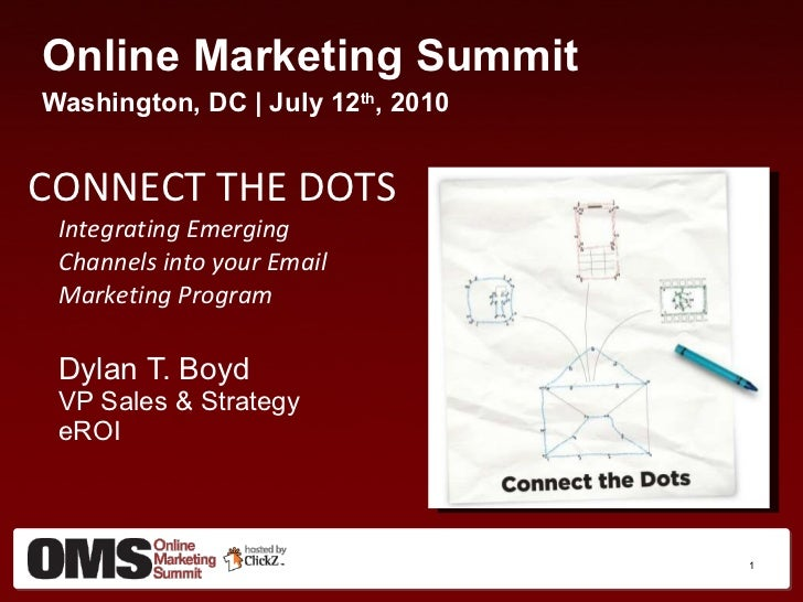 <ul><li>Online Marketing Summit </li></ul><ul><li>Washington, DC | July 12 th , 2010 </li></ul><ul><li>CONNECT THE DOTS In...