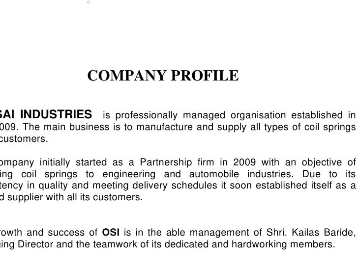 C                   COMPANY PROFILESAI INDUSTRIES is professionally managed organisation established in009. The main busin...