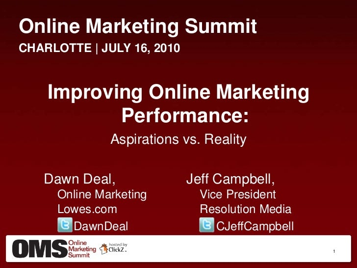 How to use Online Marketing Technology to Improve Campaign Performance - Lowes.com, Resolution Media