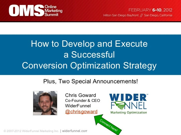 Conversion Rate Optimization at OMS - the 5 Step Conversion Optimization Strategy
