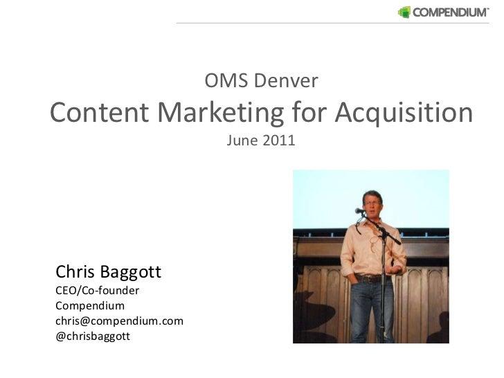 Chris Baggott Presents at OMS Denver