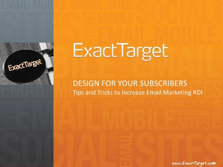 Design for Your Subscribers