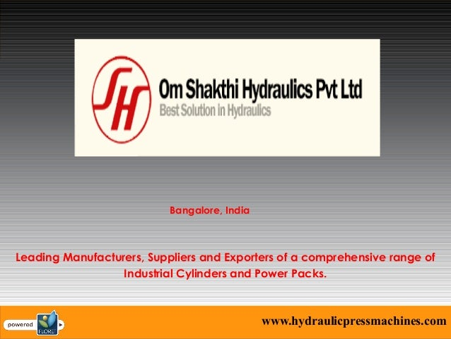 Industrial Hydraulic Press Manufacturer in Bangalore