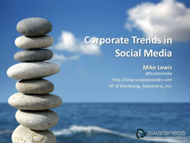 Corporate Trends - Online Marketing Summit 2009