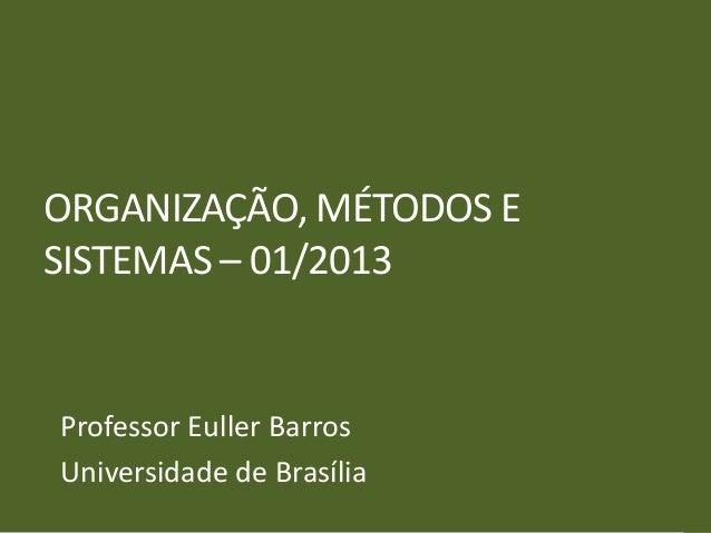 OMS UnB 01_2013 - Aula 05 - Organogramas