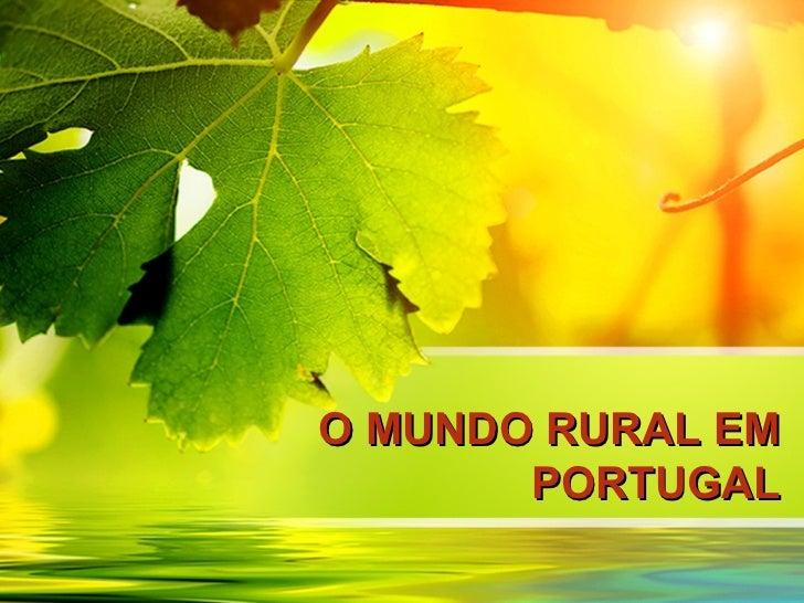 O mundo rural em portugal e seus fatores