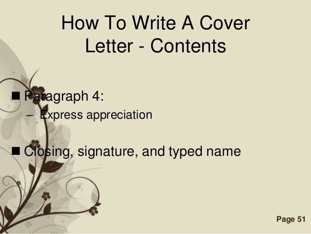 Add a Strong Closing Sentence to Your Cover Letter to Seal