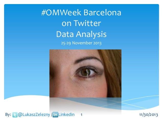OMWeek in Barcelona November 2013