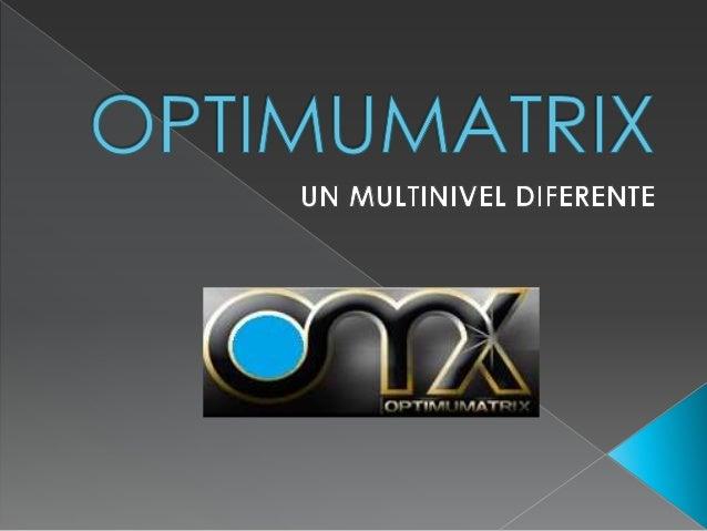  Optimumatrix te ofrece un plan de compensación excelente y fácil de comprender, que consiste en una Matriz Forzada de 5x5