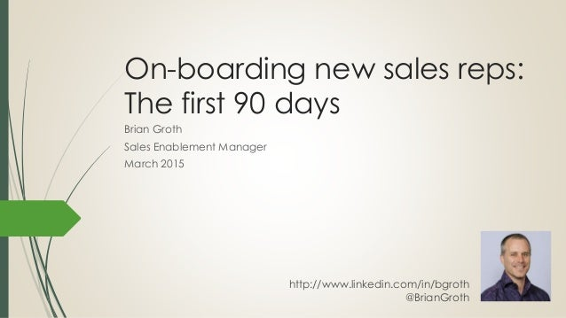 sales manager first 90 days presentation