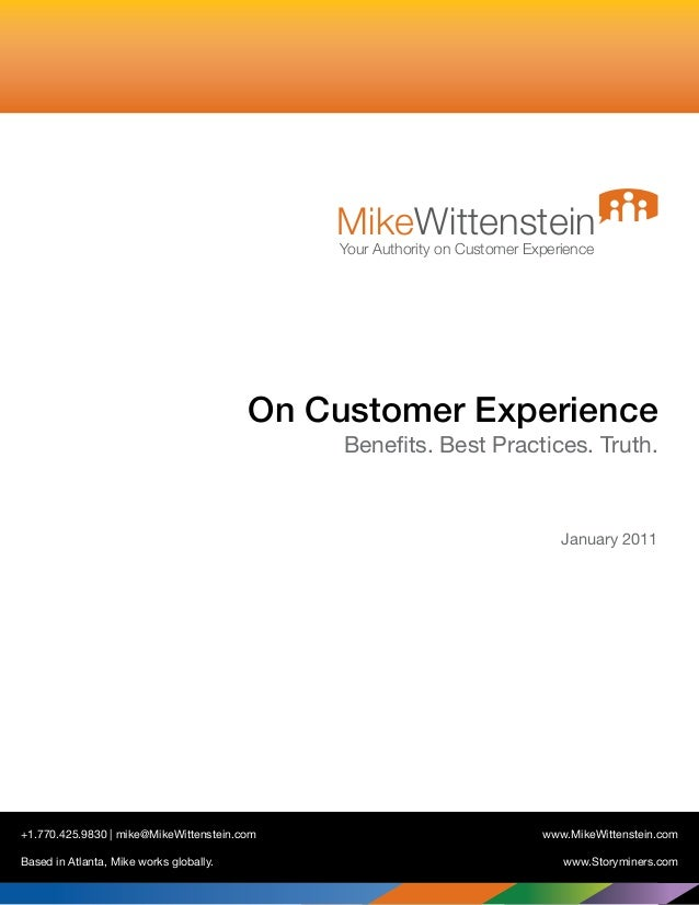On Customer Experience - Best Practices