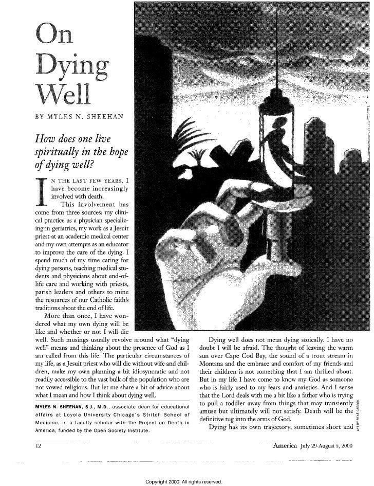 On  Dying  Well