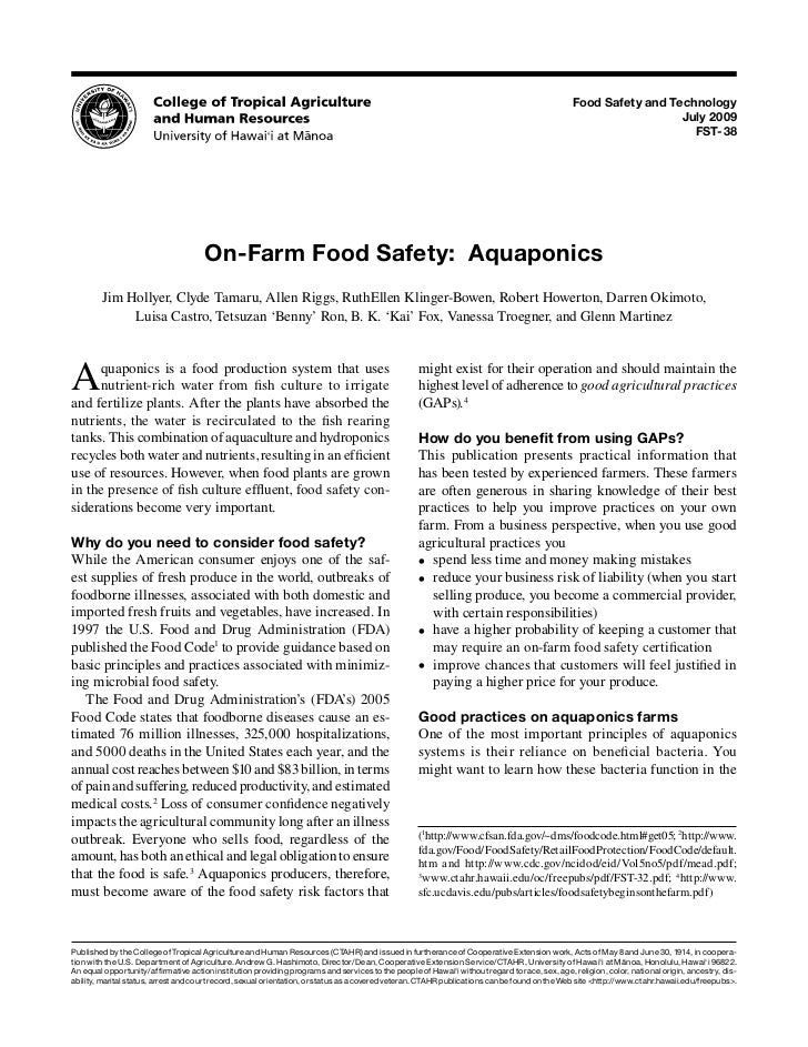 Food Safety and Technology                                                                                                ...