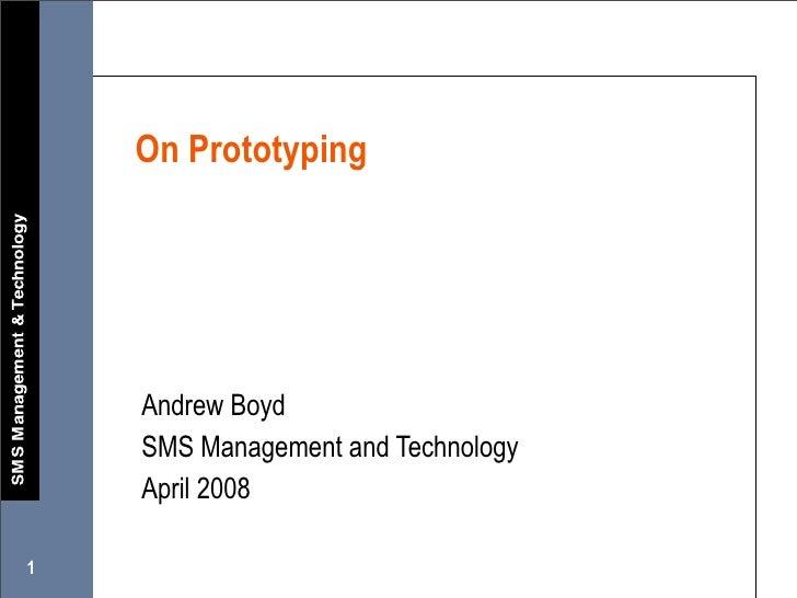 On Prototyping