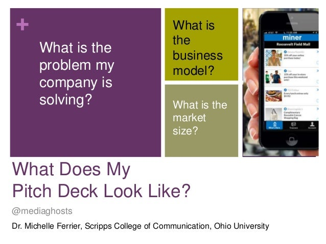 + What is the problem my company is solving?  What is the business model? What is the market size?  What Does My Pitch Dec...